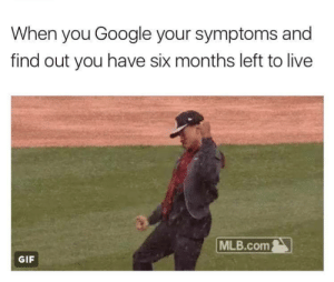 Gif, Google, and Mlb: When you Google your symptoms and  find out you have six months left to live  MLB.com  GIF