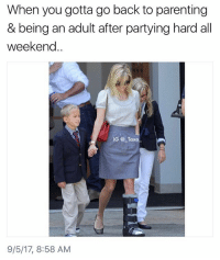 Being an Adult, Kanye, and Kardashians: When you gotta go back to parenting  & being an adult after partying hard all  weekend..  IG @ Taxo  9/5/17, 8:58 AM Tag someone with these qualifications.. @sigh for more awesome content @sigh 🙄🙄🙄🙄🙄🙄🙄🙄🙄🙄🙄 - - *follow @sigh - - VMAs MTV VMA EdSheeran DemiLovato KodakBlack LilUzivert DJKhaled LilYachty MileyCyrus own people eentertainment perezhilton tmz yeezy bbmas yeezyboost khloekardashians kardashian kardashians kloe jenner kanyewest kimk khloe kanye RobKardashian BlacChyna