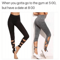 """Memes, 🤖, and Code: When you gotta go to the gym at 5:00,  but have a date at 8:00 @behindhemlines Ballerina Yoga Pants! ❤️ Use code """"BBITCL"""" for 10% off your order today! 👉 @behindhemlines 👉 @behindhemlines Shop now! www.behindhemlines.com Worldwide shipping"""