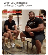 Lololol: when you grab a beer  with your CrossFit homie  @squat.bench.deadlift Lololol
