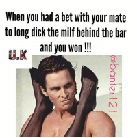😂😂😂😂😂 the face kills it i won bitch 😂😂😂🎯🎯🎯 ukmemesquad bet milf won jokes bAnter memes petty instadaily tagsomeone dailyjokes funny: When you had a betwith your mate  to long dick the milf behind the bar  and you won 😂😂😂😂😂 the face kills it i won bitch 😂😂😂🎯🎯🎯 ukmemesquad bet milf won jokes bAnter memes petty instadaily tagsomeone dailyjokes funny