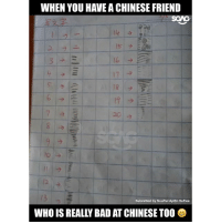 Bad, Memes, and Chinese: WHEN YOU HAVE A CHINESE FRIEND  Submitted by NouRul AyiEn SaFiee  WHO ISREALLY BAD ATCHINESE TO0 There's always that one bugger who can never get the hang of Chinese hahahaah... tag that one friend!!!