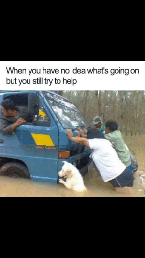 Help, Idea, and You: When you have no idea what's going on  but you still try to help