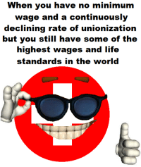 Minimum Wage, Anarchyball, and Union: When you have no minimum  wage and a continuously  declining rate of unionization  but you still have some of the  highest wage  and life  standards in the world Svetoslav Svetlozarov