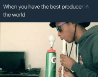 Memes, 🤖, and The World: When you have the best producer in  the world I don't understand all the accessories ie the toaster 😂😂😂😂😂