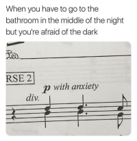 Meirl: When you have to go to the  bathroom in the middle of the night  but you're afraid of the dark  RSE 2  p with anxiety  div Meirl