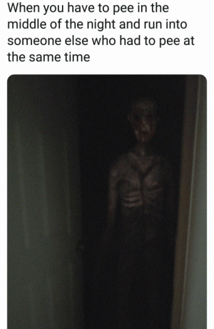 me👻irl by TittyRotater MORE MEMES: When you have to pee in the  middle of the night and run into  someone else who had to pee at  the same time me👻irl by TittyRotater MORE MEMES
