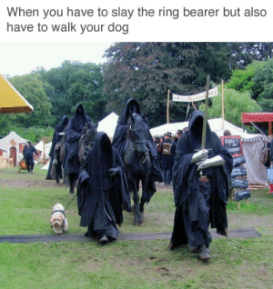 """tastefullyoffensive: (via farhan12345): When you have to slay the ring bearer but also  have to walk your dog  lle""""  ৯ tastefullyoffensive: (via farhan12345)"""