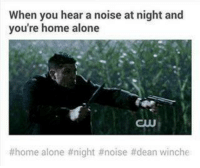 Home Alone, Memes, and True: When you hear a noise at night and  you're home alone  CUU  home alone night #noise #dean winche lol true - need Dean to protect me 😉  Lady Snape