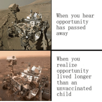 Fresh, Http, and Opportunity: When you hear  opportunity  has passed  away  When you  realize  opportunity  lived longer  than an  unvaccinated  child Multifunctional and fresh! Stratton Oakmont CEO Approved. INVEST FAST! via /r/MemeEconomy http://bit.ly/2I9OFwC