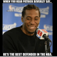 Pat Bev😂😂: WHEN YOU HEAR PATRICK BEVERLEY SA..  HBAMEMES  HES THE BEST DEFENDER THE NBA Pat Bev😂😂