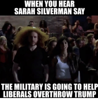 Memes, 🤖, and Usmc: WHEN YOU HEAR  THE MILITARYISGOING TO HELP  LIBERALS OVERTHROW TRUMP 💀 cash me outside how bow dah 😂 👊💀👍 UncleSamsMisguidedChildren 💀 Check out our store. Link in bio. 💀 LIKE our Facebook page 💀 Subscribe to our YouTube Channel 💀 Visit our website for more News and Information. 💀 www.UncleSamsMisguidedChildren.com 💀 Tag and Join our Misguided Family @unclesamsmisguidedchildren Use code USMCNATION10 for 10% off MisguidedLife MisguidedNation USMCNation military ProGun 2A Tactical MAGA BackTheBlue donttreadonme patriotic Gun Ammo 1775 USMC us 0311 army navy Grunt Veterans K9 veteran pewpew murica merica america usa