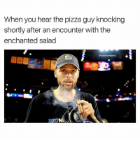 Cajun crust or get the duck out my life: When you hear the pizza guy knocking  shortly after an encounter with the  enchanted salad  @comfysweaters Cajun crust or get the duck out my life