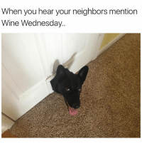 Can I join😃😍 girlsthinkimfunnytwitter winewednesday winesday winoclock: When you hear your neighbors mention  Wine Wednesday Can I join😃😍 girlsthinkimfunnytwitter winewednesday winesday winoclock