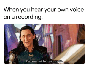 Dank, Life, and Memes: When you hear your own voice  on a recording  l've never met this man in my life You gotta kid in me . by yothisisyo MORE MEMES