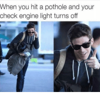 """<p>Ayyyy via /r/memes <a href=""""http://ift.tt/2sRVwSi"""">http://ift.tt/2sRVwSi</a></p>: When you hit a pothole and your  check engine light turns off <p>Ayyyy via /r/memes <a href=""""http://ift.tt/2sRVwSi"""">http://ift.tt/2sRVwSi</a></p>"""