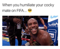 Fifa, Memes, and Good: When you humiliate your cocky  mate on FIFA...  vis  SHOPPIN Always feels good haha.