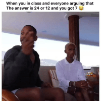 Facts, Funny, and Lmao: When you in class and everyone arguing that  The answer is 24 or 12 and you got 7 Lmao facts 👉🏽(via: briannaminiquex-Twitter)