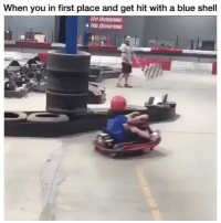This is too much!😂 (Follow @nochilllcomedy - nochilllcomedy lol): When you in first place and get hit with a blue shell This is too much!😂 (Follow @nochilllcomedy - nochilllcomedy lol)