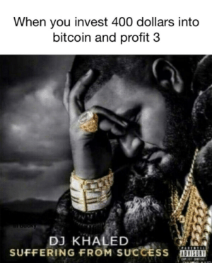 DJ Khaled, Music, and Best: When you invest 400 dollars into  bitcoin and profit 3  DJ KHALED  SUFFERING FROM SUCCESS We da best music (i.redd.it)