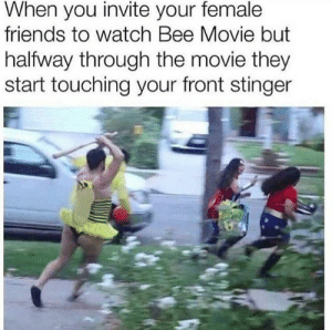 Bee Movie, Friends, and Memes: When you invite your female  friends to watch Bee Movie but  halfway through the movie they  start touching your front stinger Just a beatiful movie via /r/memes https://ift.tt/2PIQcwb