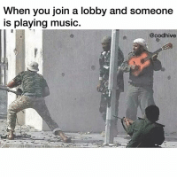 Memes, Music, and 🤖: When you join a lobby and someone  is playing music.  @cod hive What's rule number one?