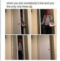 Memes, Turk, and 🤖: when you join somebody's live and you  the only one there 😭😭😭😭 I exit that mf quick as shit shepost♻♻ via @turk_run_show