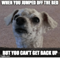 Jumped, Back, and You: WHEN YOU JUMPED OFF THE BED  BUT YOU CANT GET BACK UP