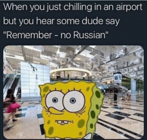 "Dude, Memes, and Russian: When you just chilling in an airport  but you hear some dude say  ""Remember no Russian'""  @kelpygexe Modern Warfare via /r/memes https://ift.tt/2pKNec8"