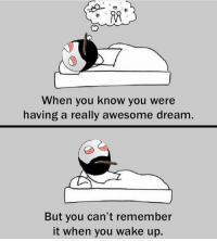 Wish we could record our dreams 😋: When you know you were  having a really awesome dream  But you can't remember  it when you wake up Wish we could record our dreams 😋