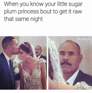 Tumblr, Blog, and Http: When you know your little sugar  plum princess bout to get it raw  that same night  lei.ying.lo lolsupport:  Father of the bride