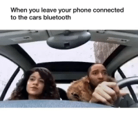 Bluetooth, Cars, and Memes: When you leave your phone connected  to the cars bluetooth 😂💀 Fuck it via @8jtv