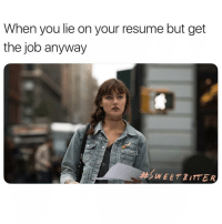 Be careful what you wish for. Make sure you watch SweetBitter tonight on @STARZ @sweetbitter_stz ad: When you lie on your resume but get  the job anyway  #S  WEET BITTER Be careful what you wish for. Make sure you watch SweetBitter tonight on @STARZ @sweetbitter_stz ad