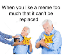 Its been a good meme why change it now: When you like a meme too  much that it can't be  replaced Its been a good meme why change it now