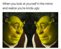 Well I'll be damned: When you look at yourself in the mirror  and realize you're kinda ugly Well I'll be damned