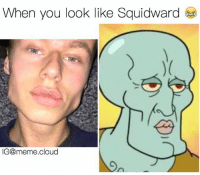 When you look like Squidward  IG@meme cloud LMAO the jawline 😂 and his lips 👄