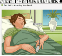 Nba, Death, and Deaths: WHEN YOU LOSE ON A BUZZER BEATER IN 2K  I Part 1 of 3: Accepting Your Death  NBAMEMES Worst feeling...