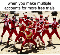 Memes, Power Rangers, and Free: when you make multiple  accounts for more free trials Power Rangers memes have ridiculous upwards potential, invest now!!! via /r/MemeEconomy http://bit.ly/2AHLaHD