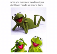 Friends, Funny, and Lol: when you make new friends and you  don't know how to act around them Lol