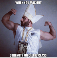 Our friend Okan sent this over to us. I want the Lords Prayer from the Swoly Bible.  -Divka: WHEN YOU  MAX OUT  TRENADDI  DOM MA  SWOLY  STRENGTH ON CLERICCLASS Our friend Okan sent this over to us. I want the Lords Prayer from the Swoly Bible.  -Divka
