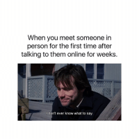 Talking to someone for the first time