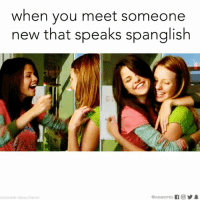My new best friend.: when you meet someone  new that speaks Spanglish  @wearemitu  f O 1  photocredit Disney Channel My new best friend.
