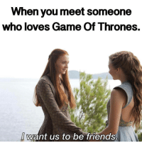 gameofthrones sophieturner nataliedormer sansastark margaery tv meme funny jokes post hbo: When you meet someone  who loves Game of Thrones  want us to be friends. gameofthrones sophieturner nataliedormer sansastark margaery tv meme funny jokes post hbo