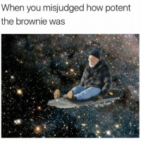 Follow @toptree for the dankest weed memes: When you misjudged how potent  the brownie was  Top Tree Follow @toptree for the dankest weed memes