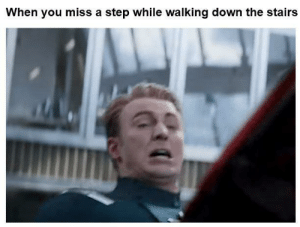 Why are we still here just to suffer?: When you miss a step while walking down the stairs Why are we still here just to suffer?