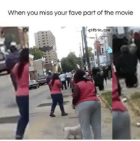 She missed the main event 😂😂💀 @pmwhiphop @pmwhiphop: When you miss your fave part of the movie  gifbin.com She missed the main event 😂😂💀 @pmwhiphop @pmwhiphop