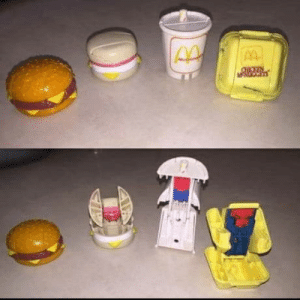 Transformers, Happy, and She: When you momma cant afford transformers so she bought u happy meals instead