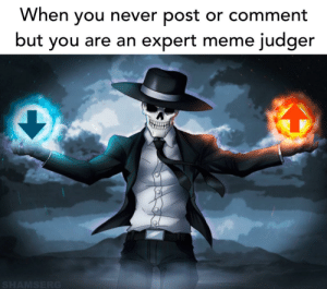 This is my calling by UncleOld MORE MEMES: When you never post  or comment  expert meme judger  but you are an  SHAMSERG This is my calling by UncleOld MORE MEMES