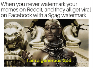 Indeed… by pauliedankmeme FOLLOW 4 MORE MEMES.: When you never watermark your  memes on Reddit, and they all get viral  on Facebook with a 9gag watermark  dáma generous God Indeed… by pauliedankmeme FOLLOW 4 MORE MEMES.