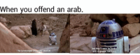 Sand People: When you offend an arab  The Sandpeople are easily startled  but they'll soon be  b  and in greater numbers